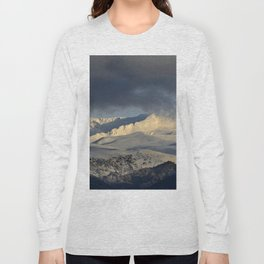 Snowy mountains through the clouds. Long Sleeve T-shirt