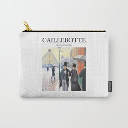 Caillebotte - Paris Street; Rainy Day Carry-All Pouch