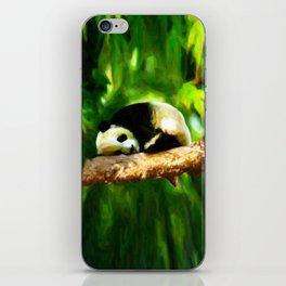 Baby Panda Resting - Painting Style iPhone Skin
