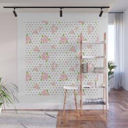 """""""Roses & Dots"""" Wall Mural"""
