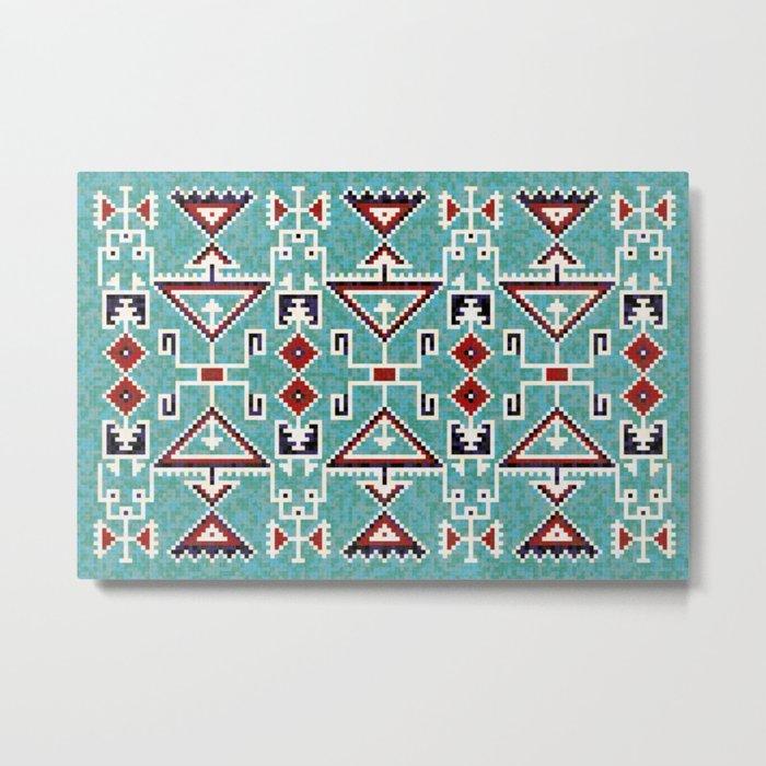 Native American Navajo pattern Metal Print