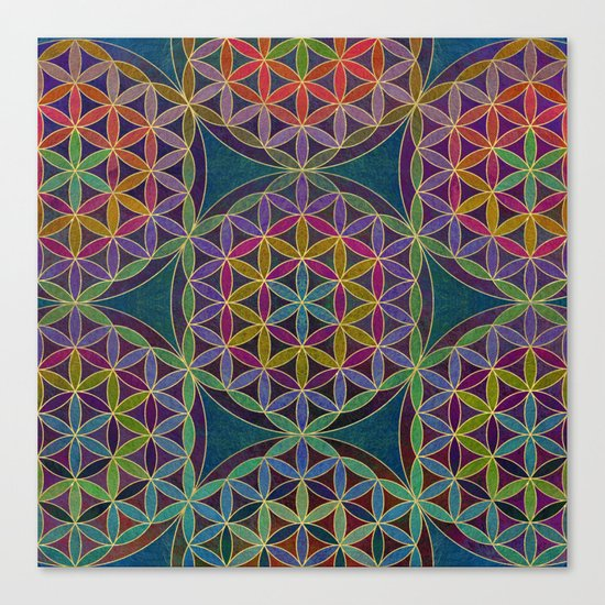 The Flower of Life (Sacred Geometry) 5 Canvas Print