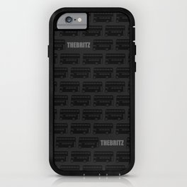 London Buses (Black on Grey) iPhone Case