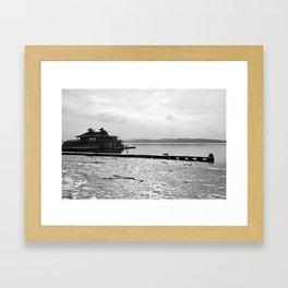 Burlington Pier Framed Art Print