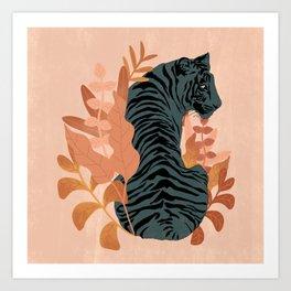 Blooming Tiger Art Print