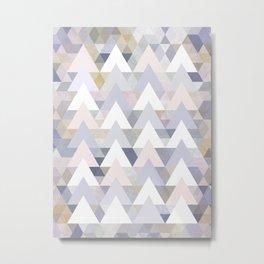 Pastel Graphic Winter Peaks on Geometry #abstractart Metal Print