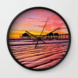 HB Sunsets Calendar Cover 2015 Wall Clock