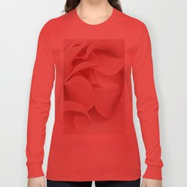 Pink flora Rose Bud- Roses and flowers Long Sleeve T-shirt