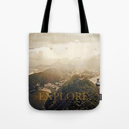 explore. golden Tote Bag