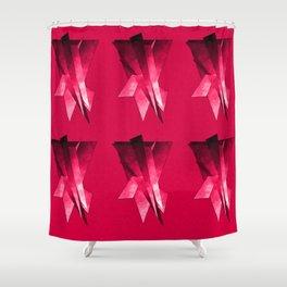 Frei-Flug-Form pink Shower Curtain