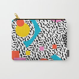 Get Real - memphis abstract pattern retro 80s design minimalist gifts colorful 1980's trend Carry-All Pouch