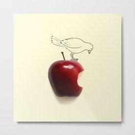 Apple - Bird Metal Print