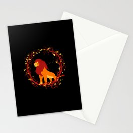 King of African Wilderness Stationery Cards