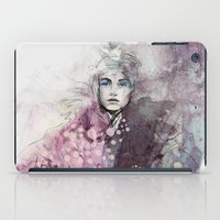 fashion illustration iPad Cases featuring FASHION ILLUSTRATION 15 by Justyna Kucharska