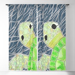 Tortu the Sassy Turtle Blackout Curtain