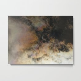 Solar Eclipse and Clouds Metal Print