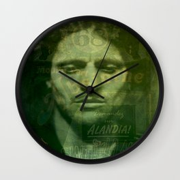 Absinthe, Vintage Advertisement Collage Wall Clock