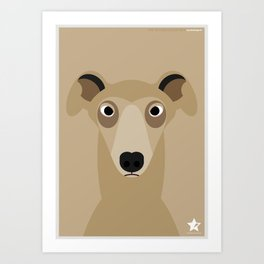 Greyhound (Galgo Ingles) Art Print