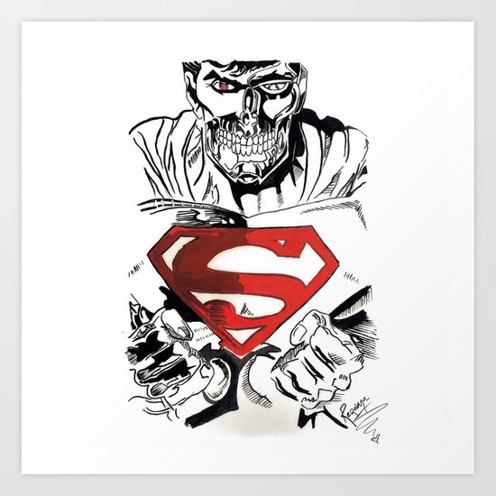 Cyborg Superman  Art Print