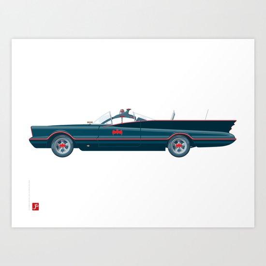 Mid '60s Crimefighter vehicle Art Print