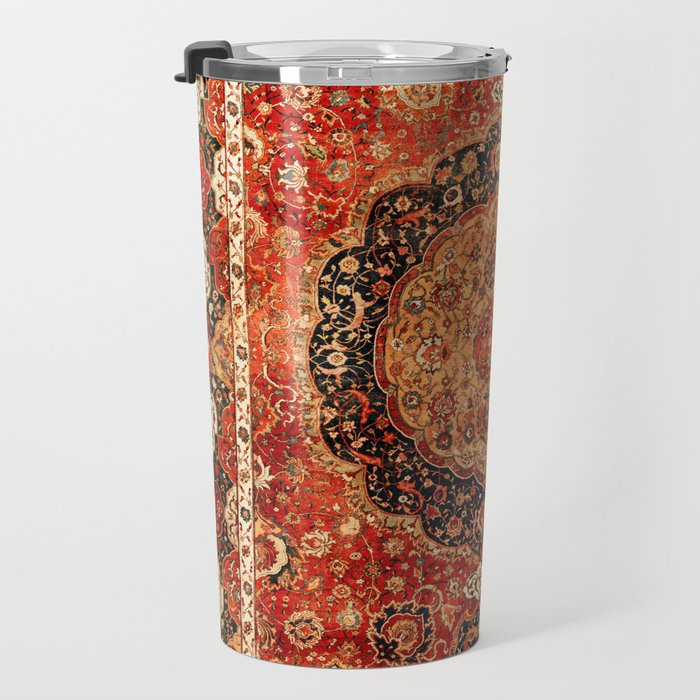 Seley 16th Century Antique Persian Carpet Print Travel Mug
