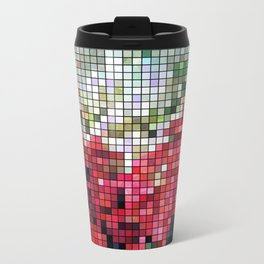 Mixed color Poinsettias 3 Mosaic Travel Mug
