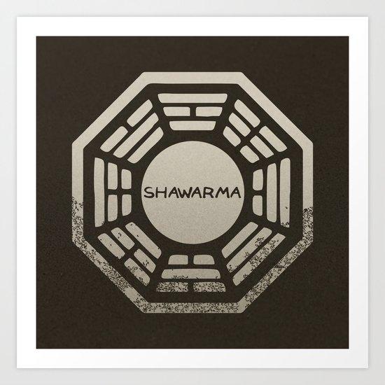 Shawarma Art Print
