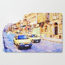 Aleppo: Taxi through the streets of Aleppo Cutting Board