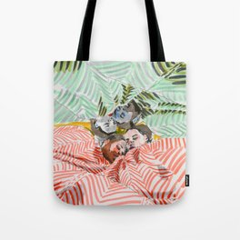 Ying Yang Couple in Bed Tote Bag