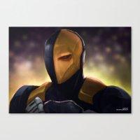 deathstroke Canvas Prints featuring Deathstroke by Asad Farook