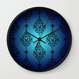 Skulls and Bats and Damask, Oh My! Wall Clock