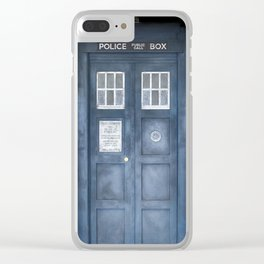 The Tardis Clear iPhone Case
