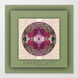 Appreciate Manifestation Mandala No. 1 Canvas Print