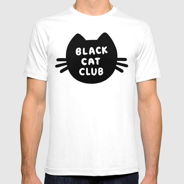 7c68db913 Black Cat Club T-shirt by evannave | Society6