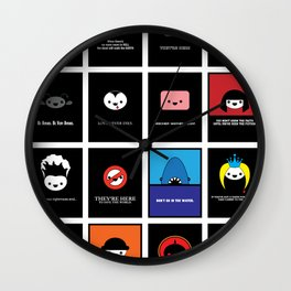 Cute Movie Posters Wall Clock