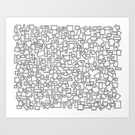 Graphic Geometric Black and White Minimalist Print Art Print