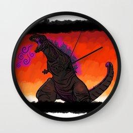 Shin Godzilla - background Wall Clock