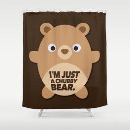 Chubby Bear Shower Curtain