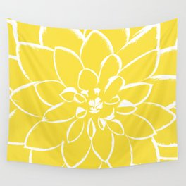 Dahlia Buttercup Wall Tapestry