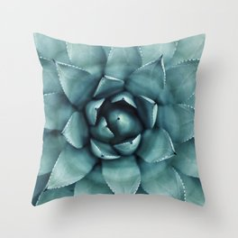 Aloe Green Agave Throw Pillow