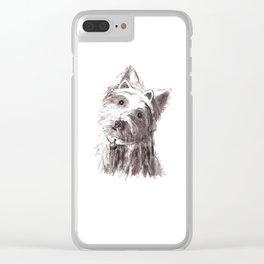 Bon Bon - the cat-like dog Clear iPhone Case