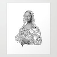 mona lisa Art Prints featuring Mona Lisa by nice to meet you