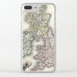 The British Isles - Tallis - 1851 Clear iPhone Case