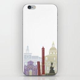 Bologna skyline poster iPhone Skin
