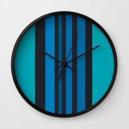 blue & blue again Wall Clock