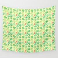 minimalist Wall Tapestries featuring minimalist spring by serenita