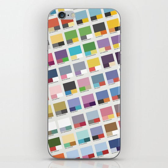 Poke-Pantone 4 (Sinnoh Region) iPhone & iPod Skin