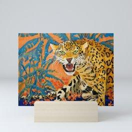 Green Eyed Leopard Mini Art Print
