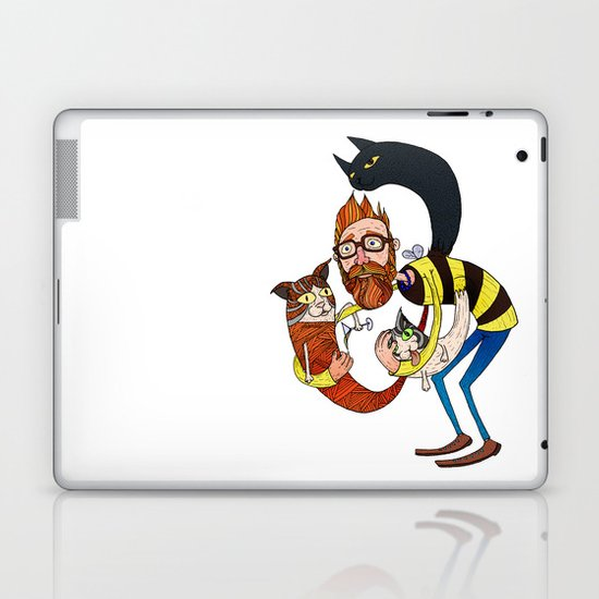 Don't let the kittah cocktail out on a cold day! Laptop & iPad Skin