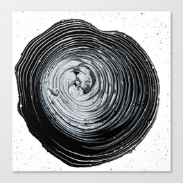 The Hole (Black and White) Canvas Print